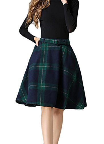 Vintage Wool Plaid Skirt - 9