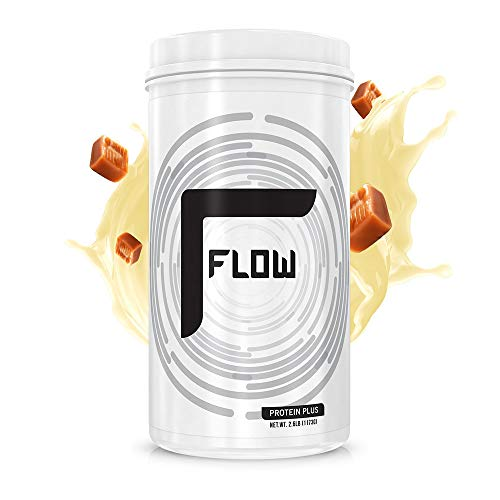 Flow Supplements by Zachary Levi Protein Plus Plant Based Pumpkin Watermelon Seed Pea Protein AMINO9 Zero Soy Gluten Dairy Sugar Natural Flavors, 2.6 Pound Salted Vanilla Caramel