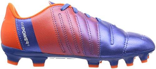 Puma evoPower 4,3 AG Jr Botas de Fútbol, Yonder Puma White Blue/Orange Shocking/3