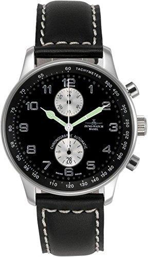 Zeno-Watch Mens Watch - X-Large Retro Chronograph Bicompax - P557BVD-d1