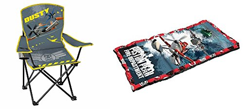 DPLANES Planes Sleeping Bag and Chair 2 Piece Camping Set by DPLANES