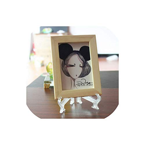 (Clear Transparent Photo Frame Support 3 5 7 9Inches Display Easel Stand Bowl Picture Frame Photo Pedestal Holder,Clear,5 Inches)
