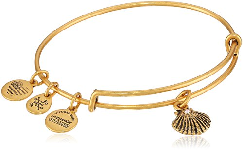 Alex and Ani Sea Shell II Rafaelian Gold Bangle Bracelet (Gold Seashell Bracelet)