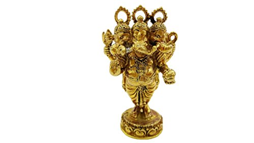 Brass lord ganesha om buddhist hindu religious wealth luck and success life protection size 2x4 cm. with amulet necklace & special (Isabella Elephant Costume)