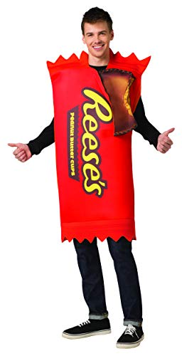 Hershey's Reese's Chocolate Peanut Butter Cups 2 Pack Candy Costume Mens ()