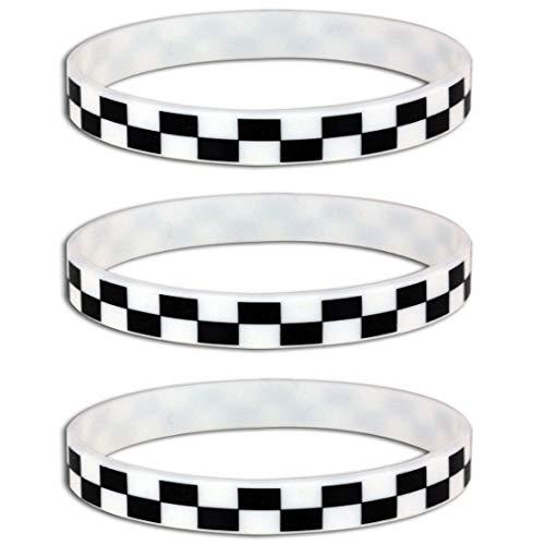 HAPPY DEALS ~ Silicone Black White Checkered Flag