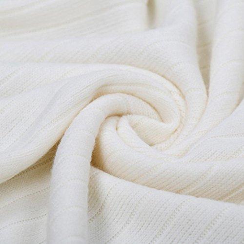 FNKDOR Mujeres fuera del hombro hecho punto Bodycon partido damas vestido de vendaje Mini vestido Blanco