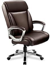 ComHoma Kontor exekutiv stol hög rygg ergonomisk ledningsstol justerbar hem kontor skrivbordsstol svängbar