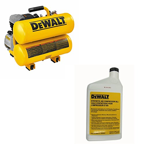 Dewalt D55153 1.1 Hp Continuous Electric Hand Carry Compressor 4 Gallon, 17.875 inch x 20 inch x 18.5 inch