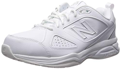 New Balance Women's 623v3 Comfort Training Shoe, White/Silver, 6.5 2E US