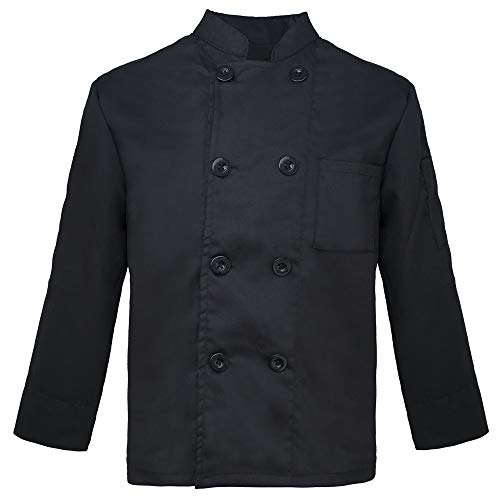 TOPTIE Kid's Chef Coat for Cooker Uniform Halloween Costume, Black]()