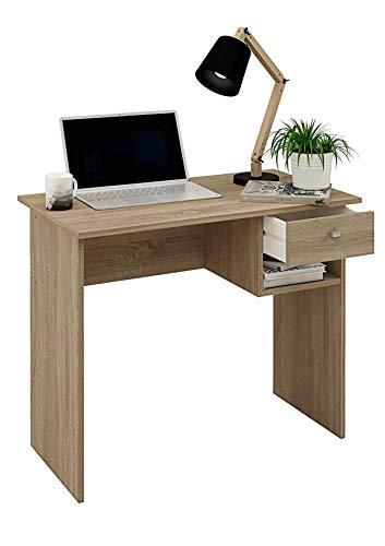 Samblo Hana Bureau avec tiroir Couleur chêne, mélamine, 90 cm de Large