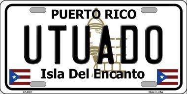 Puerto Rico Metal (Smart Blonde LP-2881 Utuado Puerto Rico Metal Novelty License Plate)