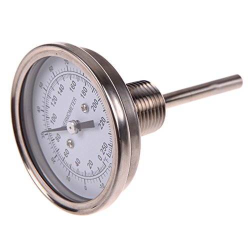 WinnerEco 3 x 1/2inch Stainless Steel Thermometer Moonshine Still Condenser Brew Mash Tun