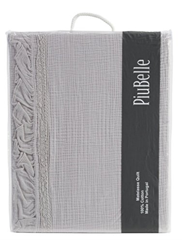 Piu Belle Piubelle Francine Joana Great Textured Ribbon Matelasse Cotton Queen 96'' x 92'' Quilt Coverlet by Piu Belle