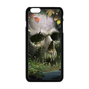 Beautiful flowers and white skull cell phone case cover tiV1zIVR0zA For HTC One M7 Case Cover ""