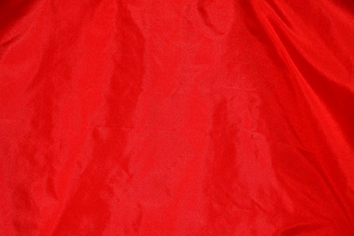 (Red Tissue Taffeta Silk, 100% Silk Fabric, By The Yard, 44