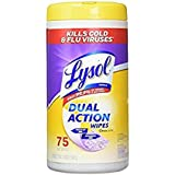 Lysol Dual Action Disinfecting Wipes, Citrus, 75 Count