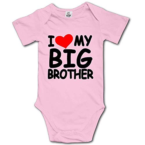 Funny I Love My Big Brother Onesies Bodysuits Romper Creeper for 0-24m Baby by Susankley (Image #2)