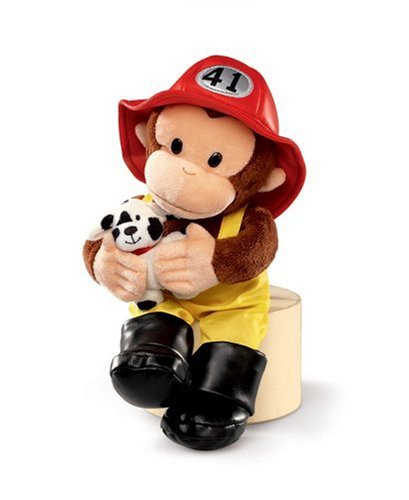 Image Unavailable. Image not available for. Color  Russ Berrie 12-Inch Curious  George Fireman 2a411f654