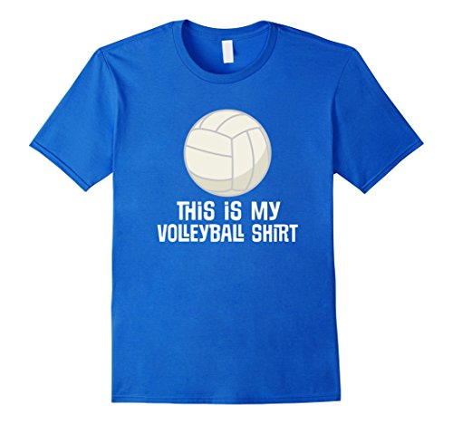 Mens Volleyball Player T-shirt Sports Ball Logo Funny Team Tee Medium Royal Blue (Logo Team Player)