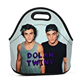 HUANSHAA Dolan-Twins Lunch Bag Lunch Box Tote Bag for Adults Kids with Zipper and Shoulder Strap