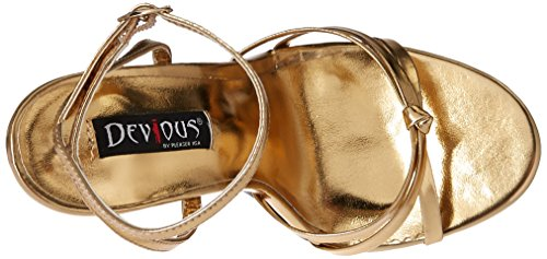 Pu Metallic b Femmes Dom108 Pleaser Gold Sandales xA7aBwWn