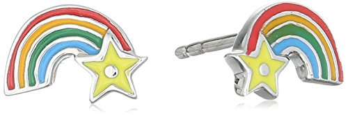 Price comparison product image Hallmark Jewelry Baby and Kids Sterling Silver Rainbow Stud Earrings
