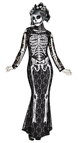 Halloween Costumes Day Of The Dead - Lacy Bones Adult Costume - Small