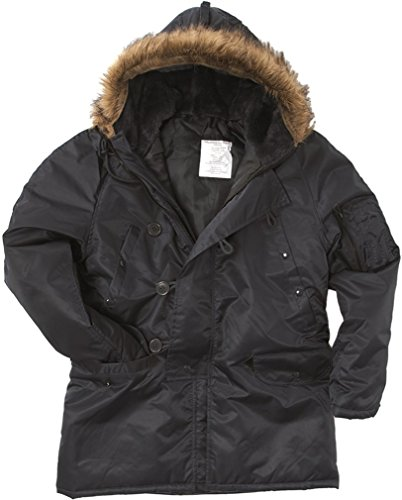 CamoOutdoor NEW USAF Military Designer Fashion Warm N3B FLIGHT JACKET N-3B Coat Flying Extreme Cold Weather PARKA NAVY BLUE ()