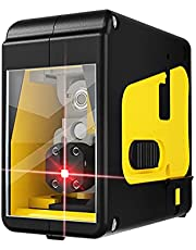 Anself Green/Red Light (Optional) Portable 2 Line High-precision Laser Level Tool Vertical Horizontal Line Multifunctional 3° Self-leveling Function Outdoor Laser Level for Door Window