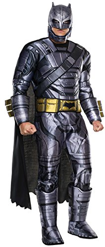 Superman Cosplay Costumes (Rubie's Men's Batman v Superman: Dawn of Justice Deluxe Batman Armored Costume, Multi, X-Large)