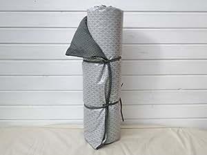 a.u Maison–Mantel de picnic grande, puntos oscuro/gris claro estampado 140x 180cm