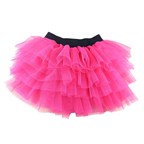 Wennikids Baby Girl's Dance Pettiskrits Chiffon Pettiskirt Tutu Medium Hot (Hot Pink Pettiskirt Tutu)