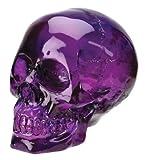 """Crystal Skulls - Purple Skull - Cold Cast Resin - 4.5"""" Height"""