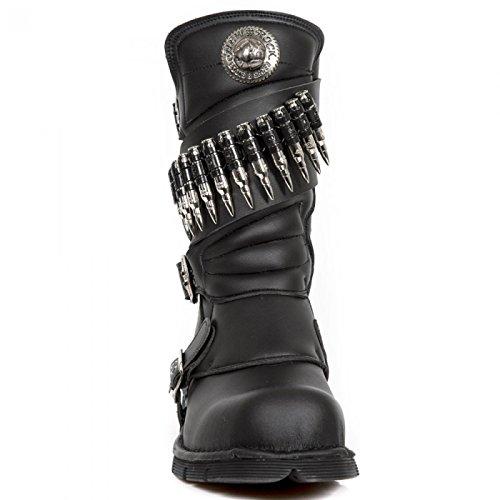New Rock Støvler M.300-v2 Gotisk Hardrock Punk Unisex Stiefel Sort MJKgA