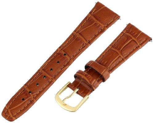 Hadley-Roma Women's LSL135RR-180 18-mm Tan Alligator Grain Leather WatchStrap (Alligator Grain Tan)