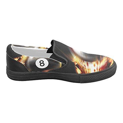 D-historien Tilpasset Billiard Menns Slip-on Canvas Sko Mote Sneaker
