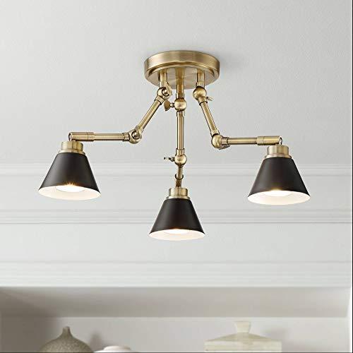 Pro Track Arnold 3-Light Antique Brass LED Ceiling Light - Pro Track