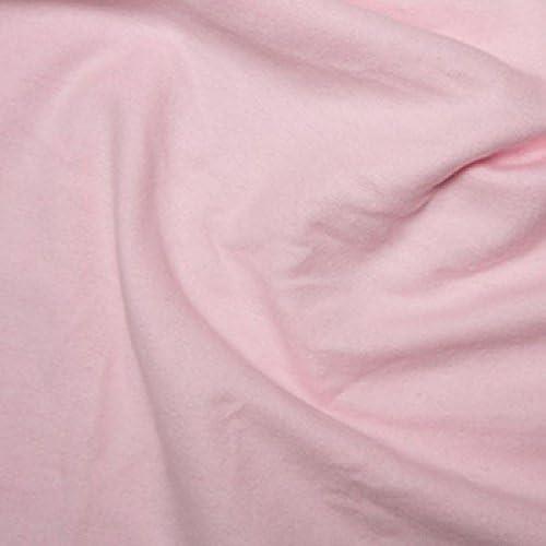 Pink tejido Plain 100% algodón cepillado franela de wynciette ...