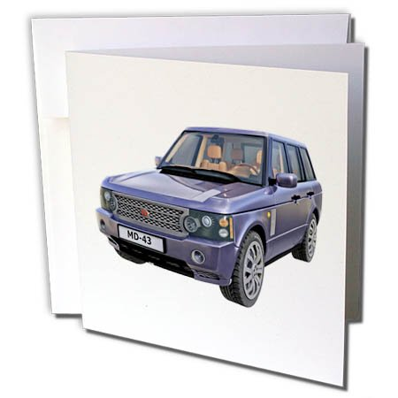 s Car - A Purple European Ranger Car - 6 Greeting Cards with Envelopes (gc_282281_1) ()