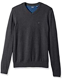 Men's Premium Essentials Fine Gauge Solid V-Neck Sweater