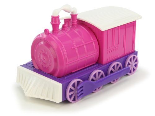 KidsFunwares Chew-Chew Train Place Setting, Pink - Transforms from a Train into a Functional Meal Set - Includes Bowl, Small Plate, Plate, Fork, Spoon, and Cup - Great Gift for Kids - Dishwasher Safe
