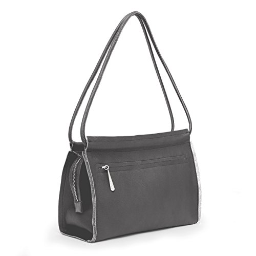 Gretchen - Opal Shoulderbag Two - Carbone Gray Metallic