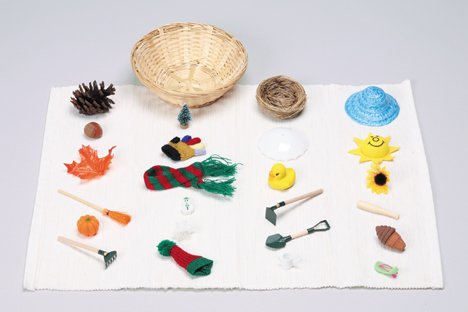 Montessori: The Four Seasons Miniature Object Sorting Kit