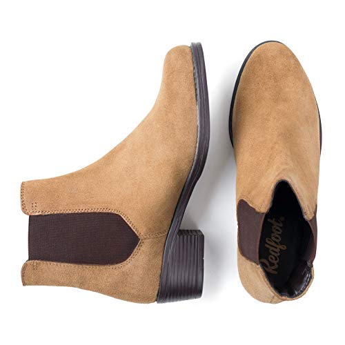 Boot Chelsea Suede Redfoot Ladies Tan fqpx6v