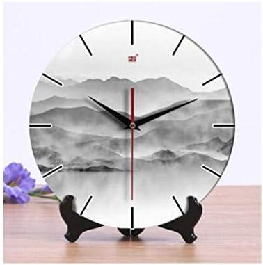 KUQIQI ヨーロッパの象牙時計エレガントなガーデン時計クリエイティブリビングルームの研究寝室の時計縁起の良い装飾品10インチ (Color : 6, Size : 12 inches)