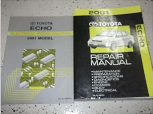 2001 toyota echo service shop repair manual set factory w wiring diagram:  toyota: amazon com: books
