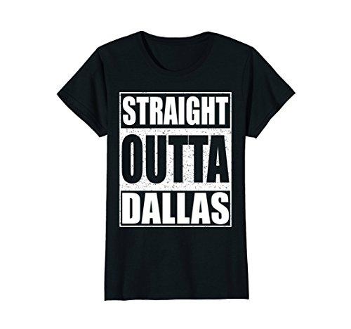 Womens Straight Outta Dallas T-shirt Funny Texas Gift Shirt Large (Dallas Cowboys Black Coffee Mug)