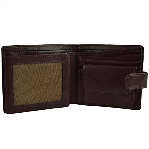 Mala Tabbed Leather Brown Wallet Leather Leather Men's Men's Tabbed Leather Mala rWqtw0g7r6